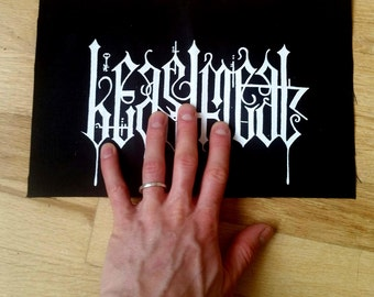 Occult Beastmeat Unholy Name Canvas Metal Patch