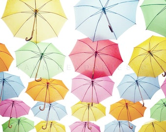 rainbow umbrella umbrella print umbrella art umbrella wall art colorful decor - Colorful Art