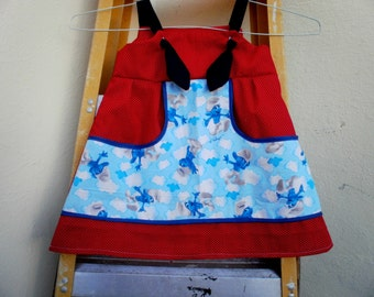 SMURFS and Red dots Knot dress - Jumper.