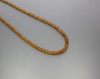 Spessartite Faceted Rondelle 3 to 4.5 mm AA Necklace for Women