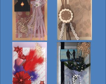 Embellished Thinking of You--Each Handmade Card is  Unique- Choose from3 variations -Free Shipping in USA