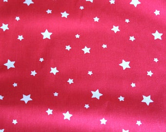 fabric stars red and white 50 * 70 cm