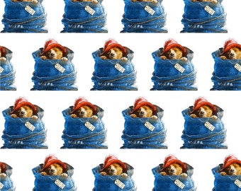 "Fabric printed theme ""Paddington Bear """