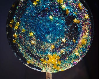 Galaxy Lollipops- Birthday- Hard Candy Lollipops- Wedding favors- Bridal Shower Favors- Starry Night- Night Sky- Party Favors