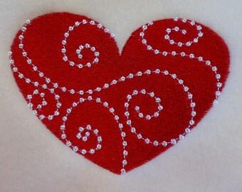 Candlewick Heart Machine Embroidery Design