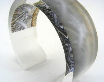 Stone Pattern Medium Bangle Acrylic Frost Finish
