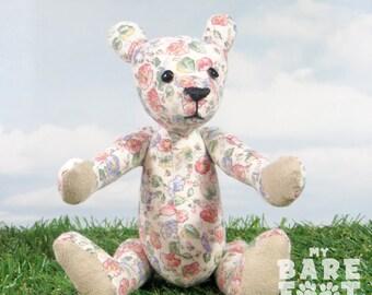 Sale! -Teddybeer artist 'Fleur' OOAK hand vervaardigde - mijn dragen voet beren