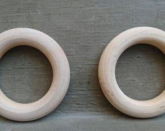 Set of 2 rattles making teething rings