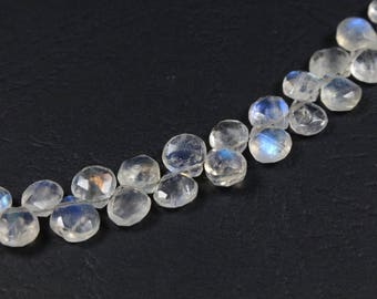 1 drop briolette faceted Moonstone approximately 5-6mm