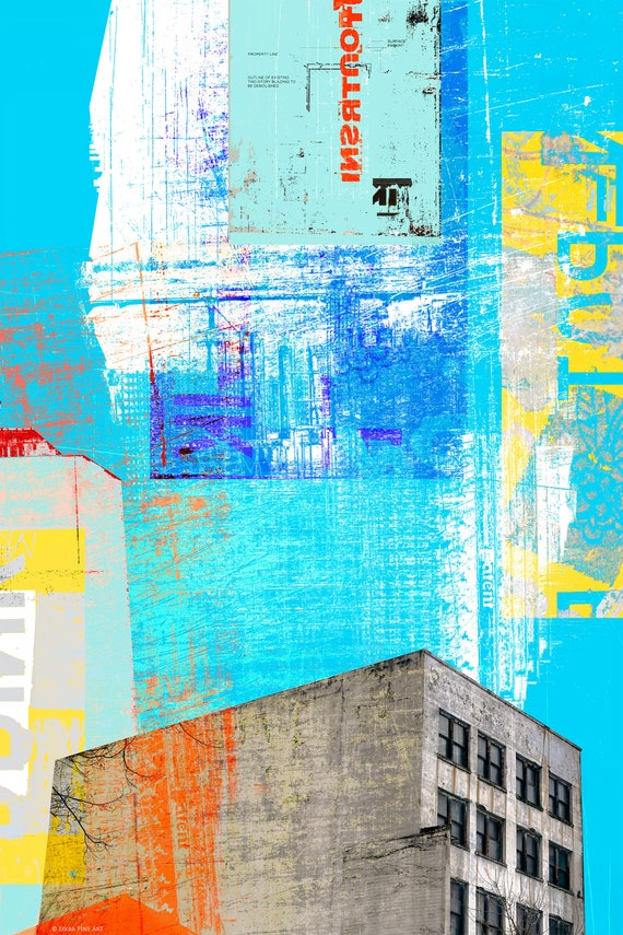 Pearl District Blues, limited edition architectural print
