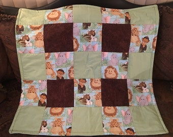 Handmade Baby Quilt with Minky backing