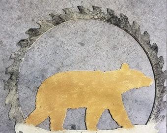 Painted bear sawblade