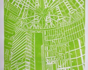 Linocut Print – SONY CENTER