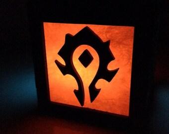 World of Warcraft Horde & Alliance light box