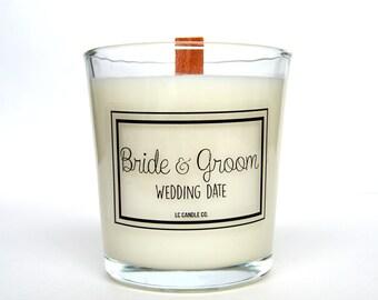 Wedding Day Candle   Custom Wedding Candle   10 oz Soy Candle