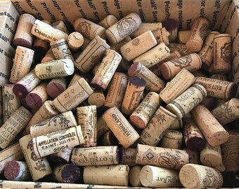 Bulk Used Wine Corks (lot of 20) both red and white wine vineyards, not synthetic, free shipping