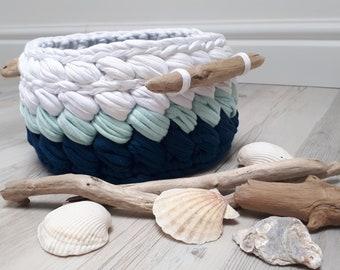 Crochet Basket, Baby Basket, Basket Home Decor Photo Prop Crochet Bowl Gift basket - Handmade - Crochet