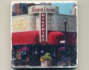 Bennison's Bakeries in Evanston - Original Coaster