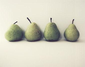 "Pear Still Life - Food Photography - Kitchen Wall Art - Pear Print - Green Pears - Fruit Art Print ""Take Four"""