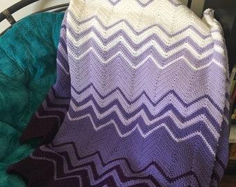 Purple Ombré Blanket