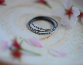 Sterling Silver Stacking Rings (set of 3)
