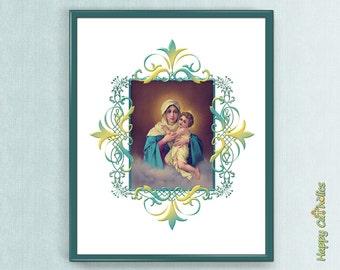 "Catholic Art // MTA - Our Lady of Schoenstatt 8""x10"" Print"