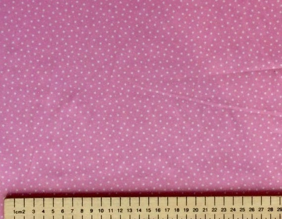 High quality cotton poplin, stars on pink