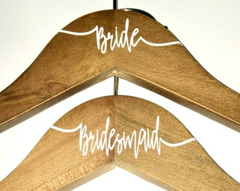 Personalized Bridal Party Hangers, Wedding Hangers, Personalized Hangers