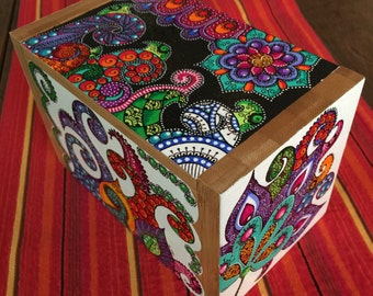 Hand painted bamboo Recipe Box (or other treasures..!)