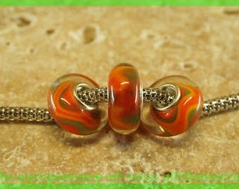 Has HQ1086 European glass bead for bracelet necklace charms