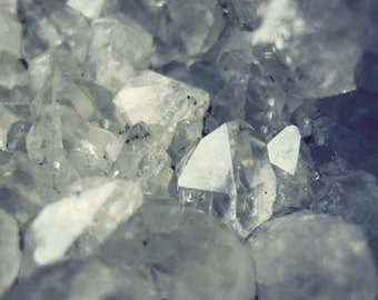 Mineral Wall Art, Crystal Art Print, Gray Wall Art, Nature Photography, Geology Rock Art, Gem Mineral Art, Quartz Print - From the Earth