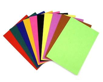 5 sheets of felt sticker back 20 x 30 cm