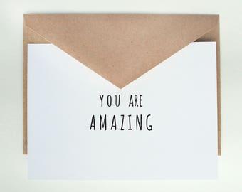 You are Amazing   -- Card & Envelope Set