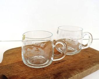 Barware – Pair of Southern Comfort Crystal Eggnog Cups – Romanian Crystal