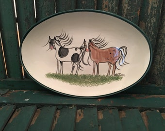 Horse Plate by Molly Dallas - Handpainted horse plate for the horse lover or makes a great horse gift!