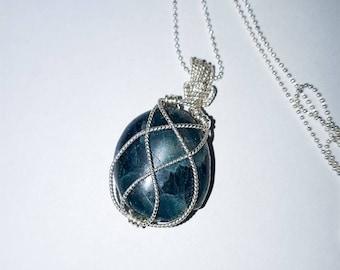 Apatite crystal pendant