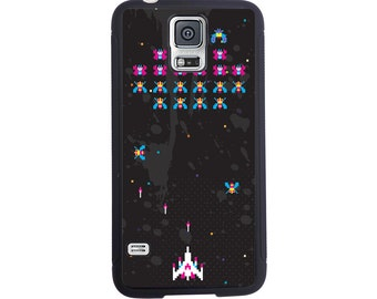Awesome Galaga Video Game Inspired Case For The Samsung Galaxy S4, S5, S6, S6 Edge, S7, S7 Edge, S8 or S8 Plus.
