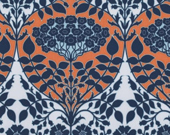 Botanique Leafy Damask Apricot Fabric by Joel Dewberry for Free Spirit