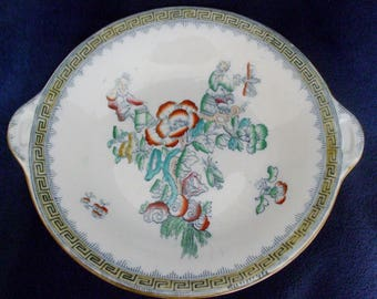 Mystery Round Early 19th Century English ChinoiserieTazza Footed Plate or Platter  (Offers Via Conversations)