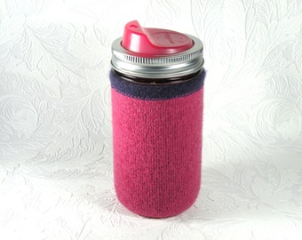 Jar Cozy - 3/4 pint size - pink