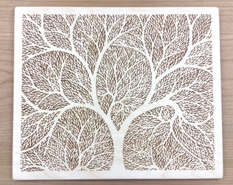 Wood Art 5 - Tree of Life Wall Art Laser Engraved Etched Cut - Wall Hanging Decor Anniversary Wood Cubicle Decor Best Selling Items
