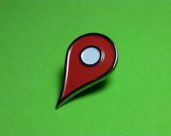 Location Navigation Pin Badge   Enamel Pin Badge   Soft Enamel Badge   Places Pin Badge    Drop Pin Here Pin Badge  