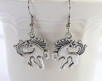 nd-Galloping Horse Dangle Earrings