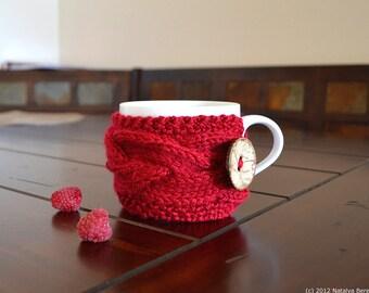 Knitting PATTERN, Cup Cozy Pattern, Knit Coffee Cozy Pattern, Coffee Sleeve Pattern, Tea Coffee Mug Cozy Pattern, Tea Cup Cozy Pattern