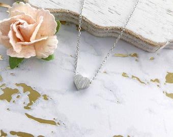 Silver Heart Dainty Necklace