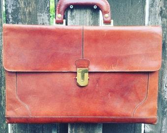 Vintage Ponte Vecchio, cuir italien, sac de messager pour homme, sacoche