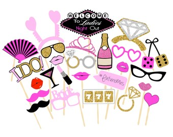 Ladies Night Out Photobooth Props | Printable Props