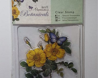 Botanicals clear rubber stamp set