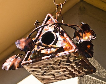 Copper Triangle Bird House