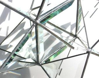 Twinkle Twinkle - vitrail 3D moyenne Moravie Star - géométrique Noël vacances décoration Clair Suncatcher prismes Home Decor